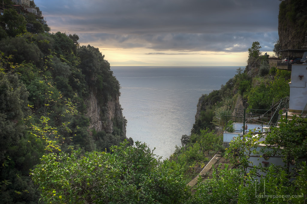 View from the hotel in Amalfi