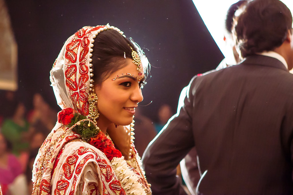 Bride during her Pheras