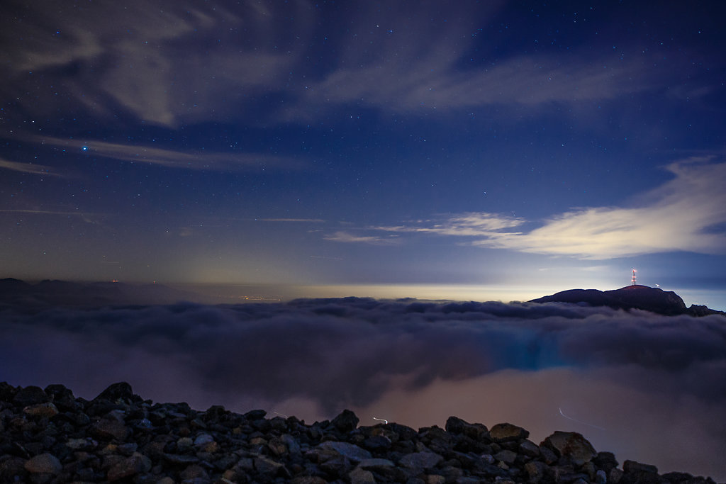 Above the clouds from Jebel Jais  - 25mm f2.8 20 sec at ISO 1250